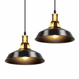 2 Suspension Luminaire Industrielle Φ27cm Plafonnier Rétro
