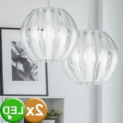 2 x suspension boule luminaire plafond éclairage appartemen