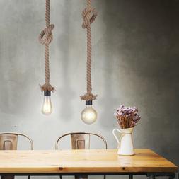 Chanvre Corde Suspendu Spot Luminaire de Plafond la Vie Ess