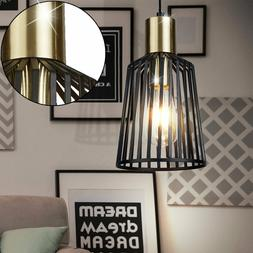 Couvrir Lampe Suspendue Bureau Cage Luminaire Plafond or Noi