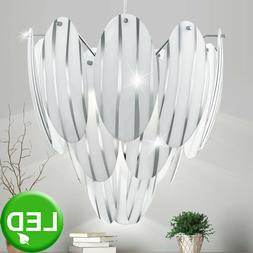 Design Chrome LED Plafond Suspendu Lampe Luminaire Éclairag