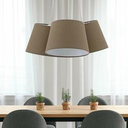 Suspendu Luminaire de Plafond Braun Dielen Éclairage Tissu