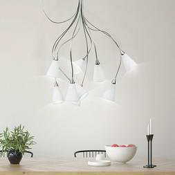 Design Suspendu Luminaire Plafond Escalier Lobby Verre Mat N