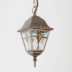 Extérieur Suspension Luminaire Lampe Rustique Antique E27 J