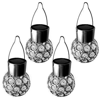 4er set solaire boule suspension lampe spherique
