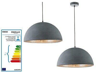 58308h plafonnier suspension luminaire suspendu gris 6083647