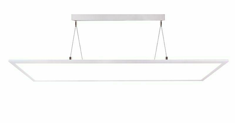 bureau luminaire suspendu panneau led transparent blanc