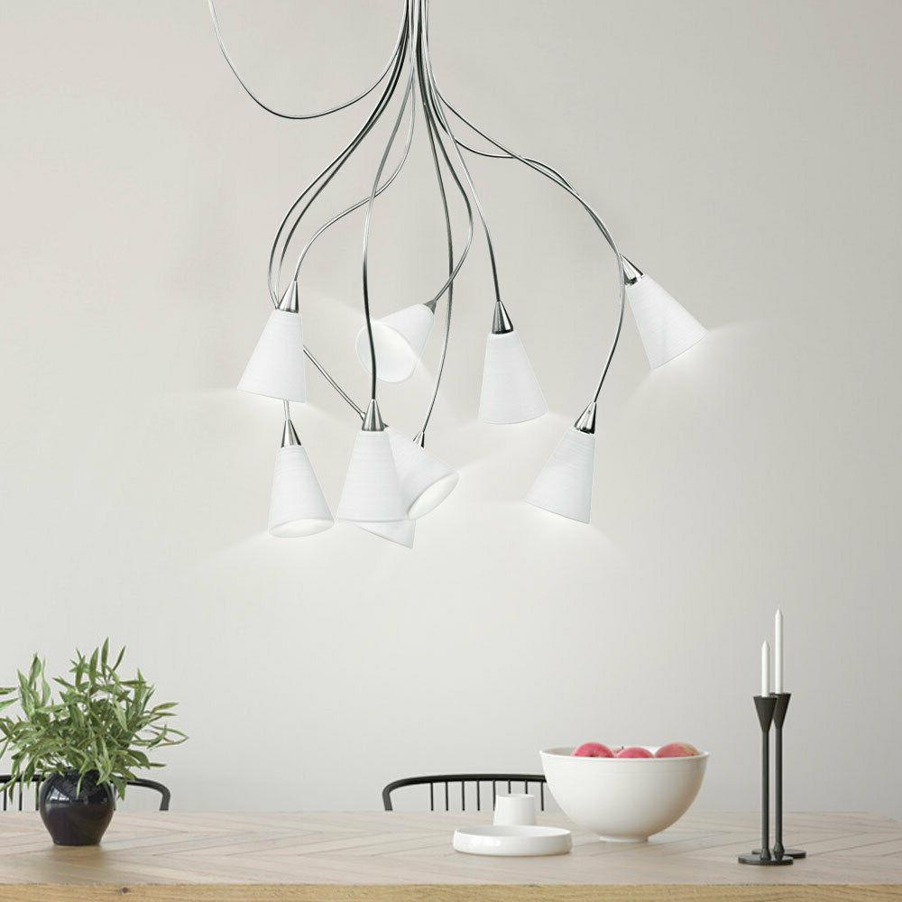 design suspendu luminaire plafond escalier lobby verre