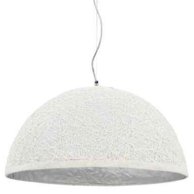 lampe suspendue blanc et argente plafonnier luminaire