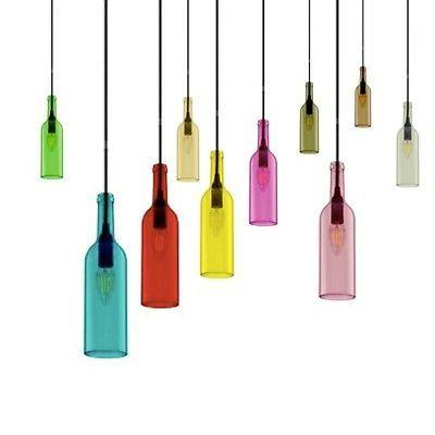 luminaire suspendu forme bouteille attaque avec e14