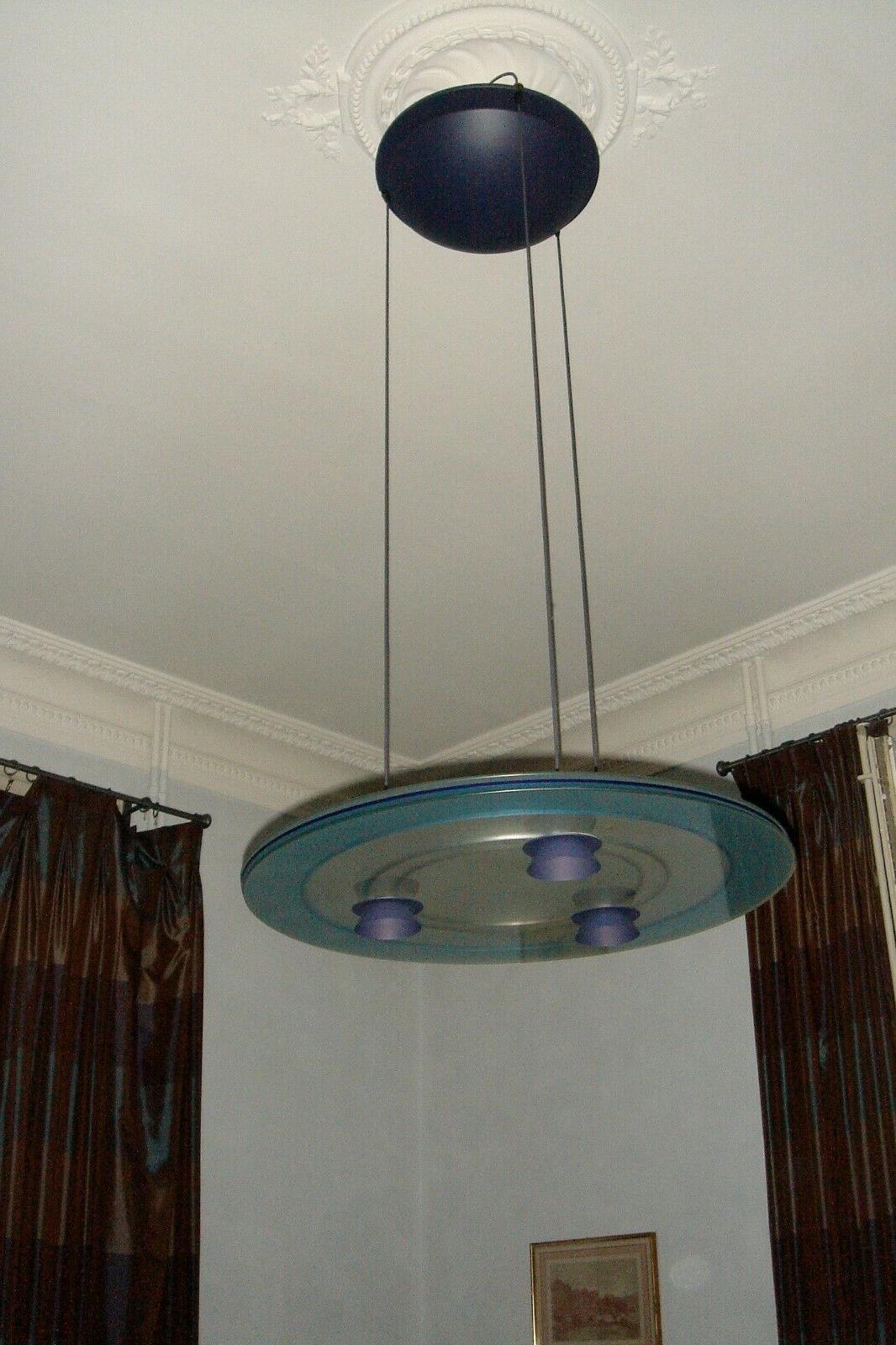 luminaire suspension aurora pour design 1980 vintage