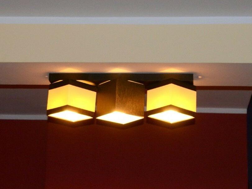 plafonnier suspension luminaire lampe 3 a flammes