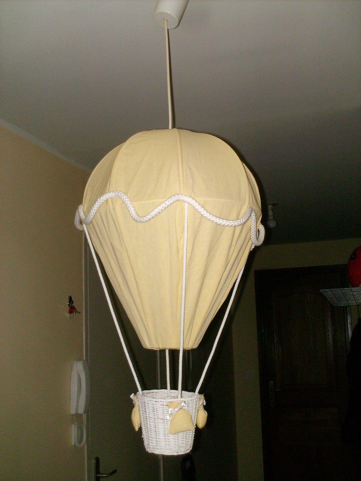 suspension luminaire lampe chambre enfant bebe montgolfiere