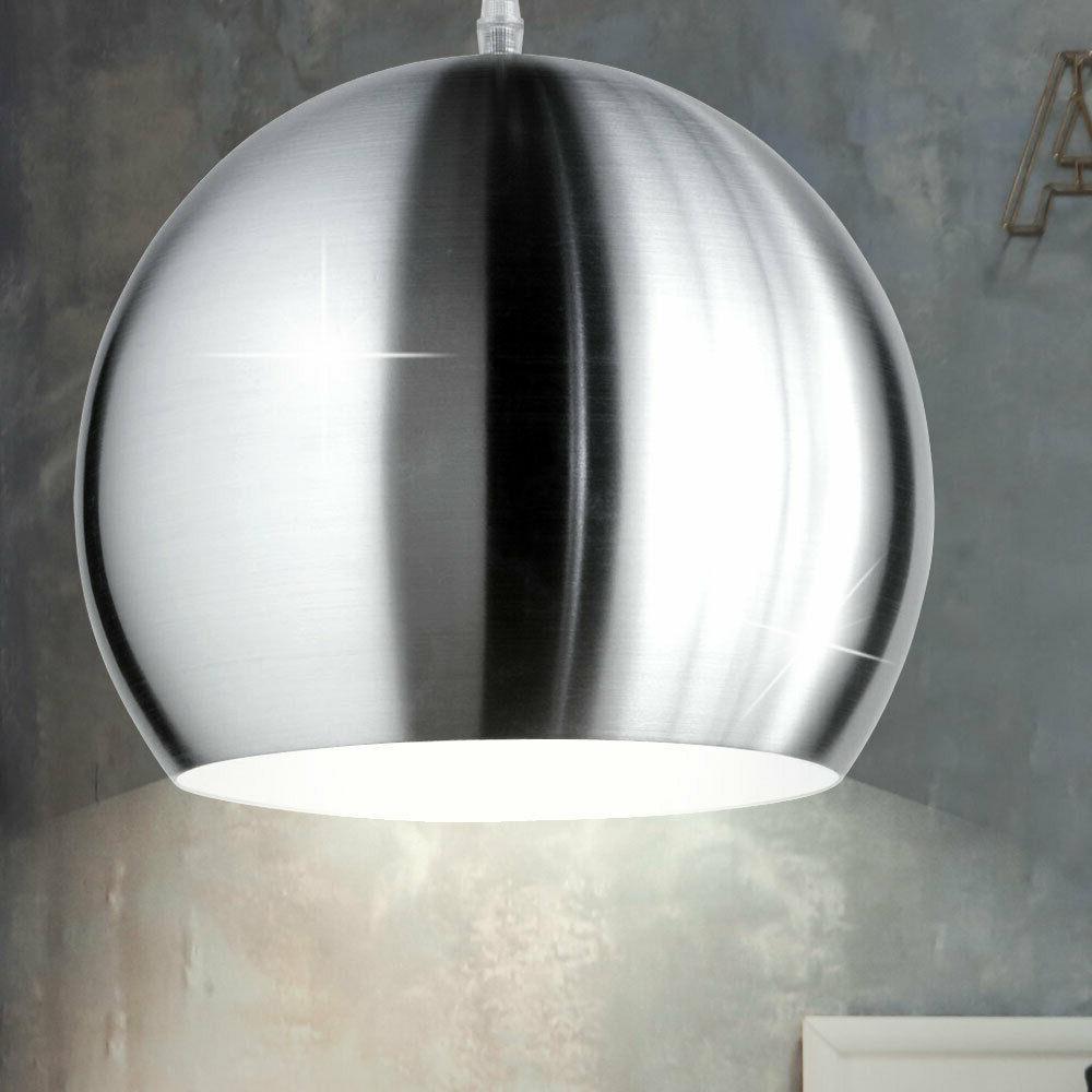 suspension lustre salle a manger luminaire nickel