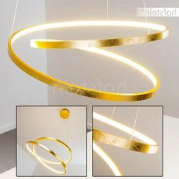 Lampe à suspension dorée Lustre Design LED Plafonnier Lumi