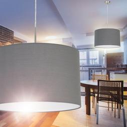Lampe à suspension Plafonnier Lampe pendante Tissu gris Lus