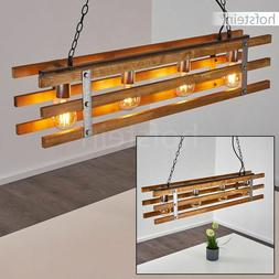 Lampe à suspension Plafonnier Métal/Bois Lustre Vintage La