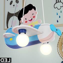 Lampe à suspension pour enfant LED garçon avion avion susp