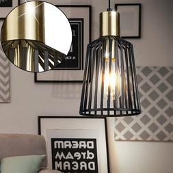 Lampe à Suspension Salon Luminaire Cage Lampe Spot Noir Spo