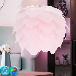 Lampe LED Suspendu Luminaire Feuilles Design RGB Télécomma