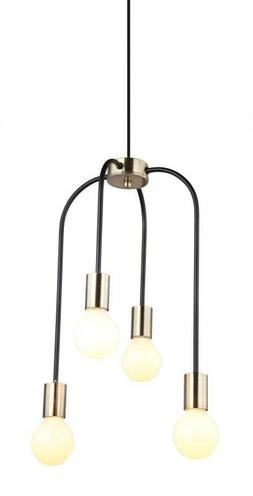 lampe luminaire suspension 4 brahches bronze