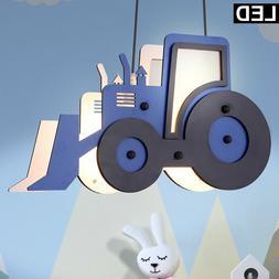 Lampe pendante LED KInder Salle de jeux Tracteur Trecker Gar