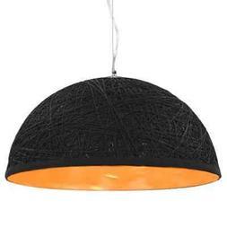 vidaXL Lampe Suspendue Noir et Doré Plafonnier Luminaire Ec
