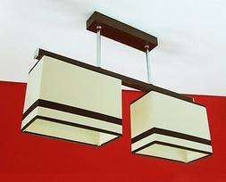 Lampe Suspension Luminaire Suspendu 2 à Flammes Conception