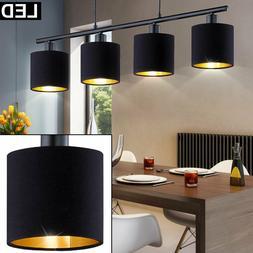 Lampe Suspendue LED Cuisine Tissu Luminaire Plafond Lumière