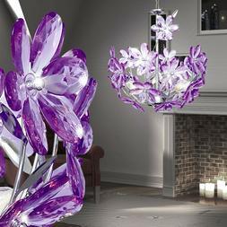 LED Design Plafonnier Suspendu Luminaire Feuilles Lampe Lust