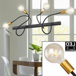 LED Luminaire Suspendu de Plafond Intensité Variable or Noi