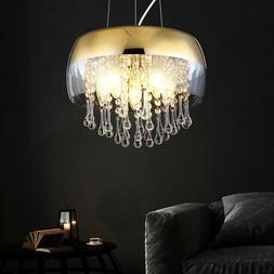 LED Luminaire Suspendu Verre Cristal Filament Or Couloir Cui