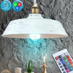 LED Plafond Suspendu Luminaire RGB Télécommande Lampe or B