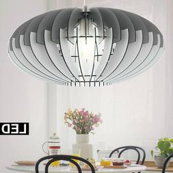 LED Suspendu Luminaire Plafond Gris Lamelles de Ess Chambre