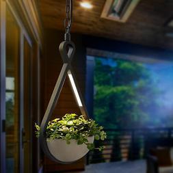 LED Suspension Avec Pot de Fleurs Luminaire Extérieur Écla