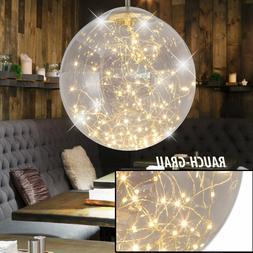 LED suspension salon boule verre luminaire gris lampe suspen