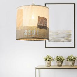 LED Tissu Suspendu Luminaire de Plafond Beige Éclairage Sal