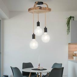 LED Vintage Luminaire Suspendu Lumière de Plafond Chanvre B