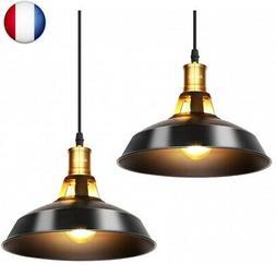 Albrillo Lot de 2 Suspension Luminaire Industrielle, ?27 cm