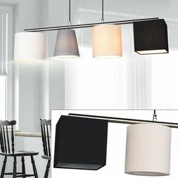 Luminaire Plafond Tissu Spot Noir Beige Design Lampe Suspend