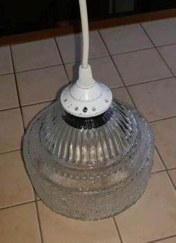 Luminaire Suspendu ancien Plafonnier Vintage globe verre occ