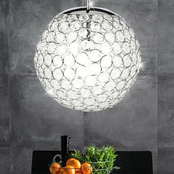 Suspension lustre luminaire plafond plafonnier boule cristau