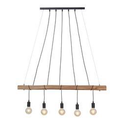 Luminaire Suspendu Damian Vintage Rétro Noir Bois Lampe E27