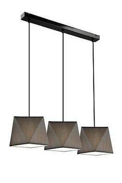 Luminaire Suspendu Gris Tissu à Manger Salon Moderne Justin