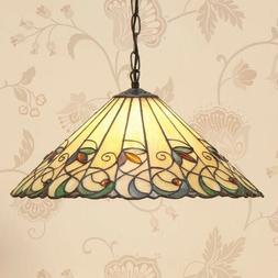 Luminaire Suspendu Jamelia Tiffany Style Ø 50cm Suspensions