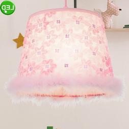 Luminaire suspendu LED pour chambre d'enfant en tissu fille