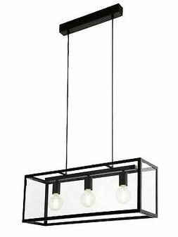 Luminaire Suspendu Noir Suspensions Lampe Intérieure Vintag