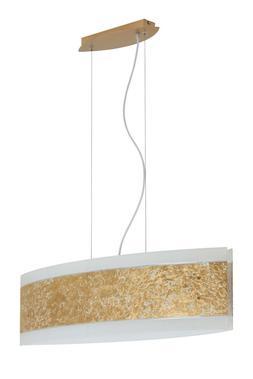Luminaire Suspendu Or Verre 4 à Flammes 75cm Large