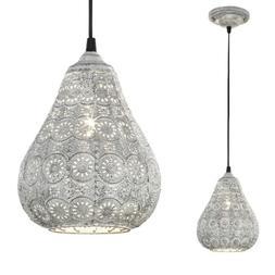 Luminaire Suspendu Oriental Gris Suspensions E14 Lampe Ø19c