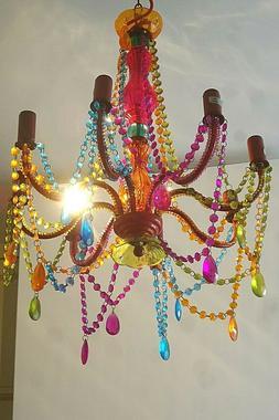 Luminaire Suspendu Style Baroque Bohême Couleurs Metal Acry